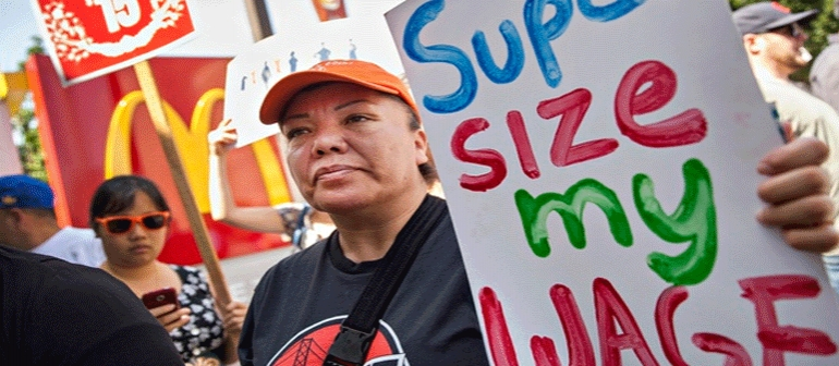 US Low Income Workers Strike